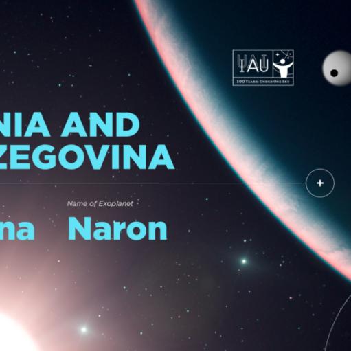 IAU 100 #NameExoWorlds: Bosna i Hercegovina  imenovala zvijezdu i egzoplanetu u sazviježđu Vodolije